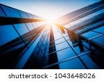 low angle view of skyscrapers... | Shutterstock . vector #1043648026