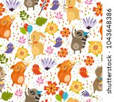 vector seamless pattern with... | Shutterstock .eps vector #1043648386