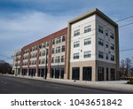 urban apartment building ... | Shutterstock . vector #1043651842