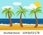 cartoon nature landscape with...   Shutterstock .eps vector #1043652178