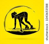 athlete runner   runner running ... | Shutterstock .eps vector #1043653588