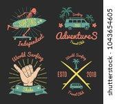 set of color vintage emblem for ... | Shutterstock .eps vector #1043654605