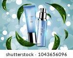 luxury cosmetic bottle package... | Shutterstock .eps vector #1043656096