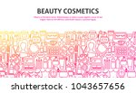 beauty cosmetics concept.... | Shutterstock .eps vector #1043657656