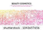 beauty cosmetics concept.... | Shutterstock .eps vector #1043657656