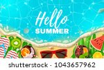 beautiful web banner with... | Shutterstock .eps vector #1043657962