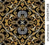 Baroque Seamless Pattern. Blac...