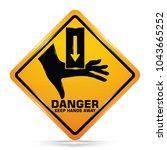 international hand crush hazard ... | Shutterstock .eps vector #1043665252