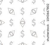 seamless vector pattern. dollar ... | Shutterstock .eps vector #1043667802