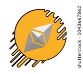 flying ethereum cryptocurrency... | Shutterstock .eps vector #1043667862