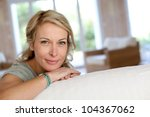 beautiful blond mature woman... | Shutterstock . vector #104367062