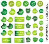 healthy food  organic food ... | Shutterstock .eps vector #1043679832