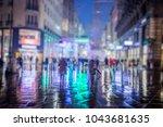 crowd of people walking on...   Shutterstock . vector #1043681635