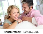 middle aged couple relaxing in...   Shutterstock . vector #104368256