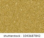gold glitter background texture.... | Shutterstock .eps vector #1043687842