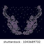 rhinestone applique for t shirt ... | Shutterstock .eps vector #1043689732