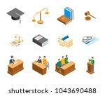law court 3d icons set... | Shutterstock .eps vector #1043690488