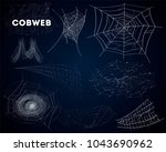 spider cobwebs various forms... | Shutterstock .eps vector #1043690962