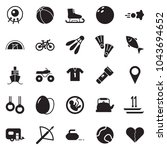 solid black vector icon set  ... | Shutterstock .eps vector #1043694652