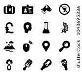 solid vector icon set  ... | Shutterstock .eps vector #1043695336
