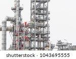 industrial zone the equipment... | Shutterstock . vector #1043695555