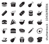 solid black vector icon set  ... | Shutterstock .eps vector #1043698006