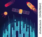 vector illustration of sci fi... | Shutterstock .eps vector #1043698642