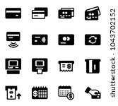 solid vector icon set   credit... | Shutterstock .eps vector #1043702152