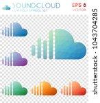soundcloud geometric polygonal... | Shutterstock .eps vector #1043704285