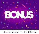 bonus sign letters decor with... | Shutterstock .eps vector #1043704705