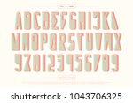 urban style alphabet letters... | Shutterstock .eps vector #1043706325