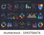 finance infographic flow charts ... | Shutterstock .eps vector #1043706676