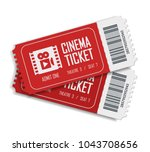 two cinema vector tickets... | Shutterstock .eps vector #1043708656