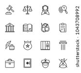 simple law icon  | Shutterstock .eps vector #1043708992