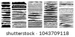 vector large set of 80 grunge... | Shutterstock .eps vector #1043709118