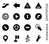 solid vector icon set  ... | Shutterstock .eps vector #1043709526