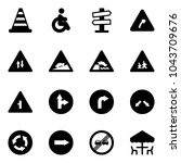 solid vector icon set   road... | Shutterstock .eps vector #1043709676