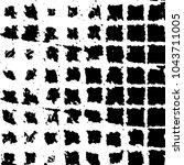 black and white grunge stripe... | Shutterstock .eps vector #1043711005