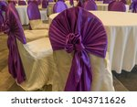 decoration of tables and chairs ... | Shutterstock . vector #1043711626