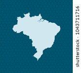 map of brazil | Shutterstock .eps vector #1043711716