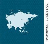 map of asia | Shutterstock .eps vector #1043711722