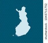 map of finland | Shutterstock .eps vector #1043711752