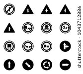 solid vector icon set   no... | Shutterstock .eps vector #1043712886