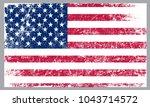 grunge american flag.flag of... | Shutterstock .eps vector #1043714572