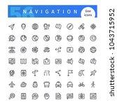 set of 56 navigation line icons ...   Shutterstock .eps vector #1043715952