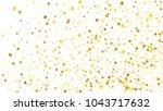 golden stars background.... | Shutterstock .eps vector #1043717632