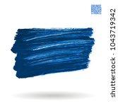blue brush stroke and texture.... | Shutterstock .eps vector #1043719342