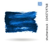 blue brush stroke and texture.... | Shutterstock .eps vector #1043719768