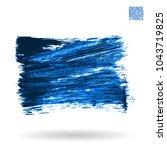 blue brush stroke and texture.... | Shutterstock .eps vector #1043719825