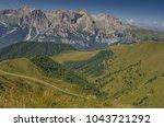 catinaccio rosengarten mountain ... | Shutterstock . vector #1043721292